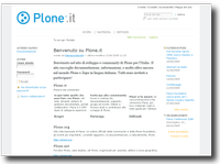 Plone Italia Screenshot